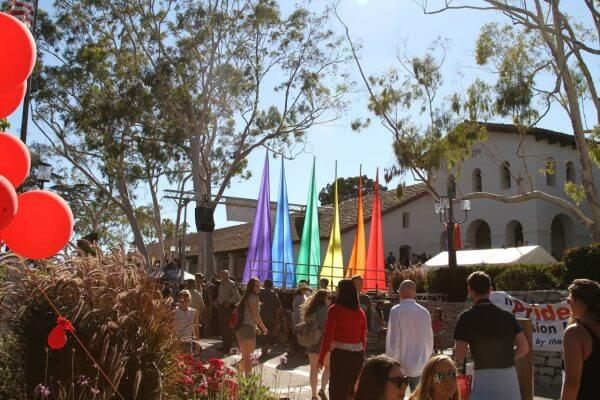 Pride in Mission Plaza, San Luis Obispo.