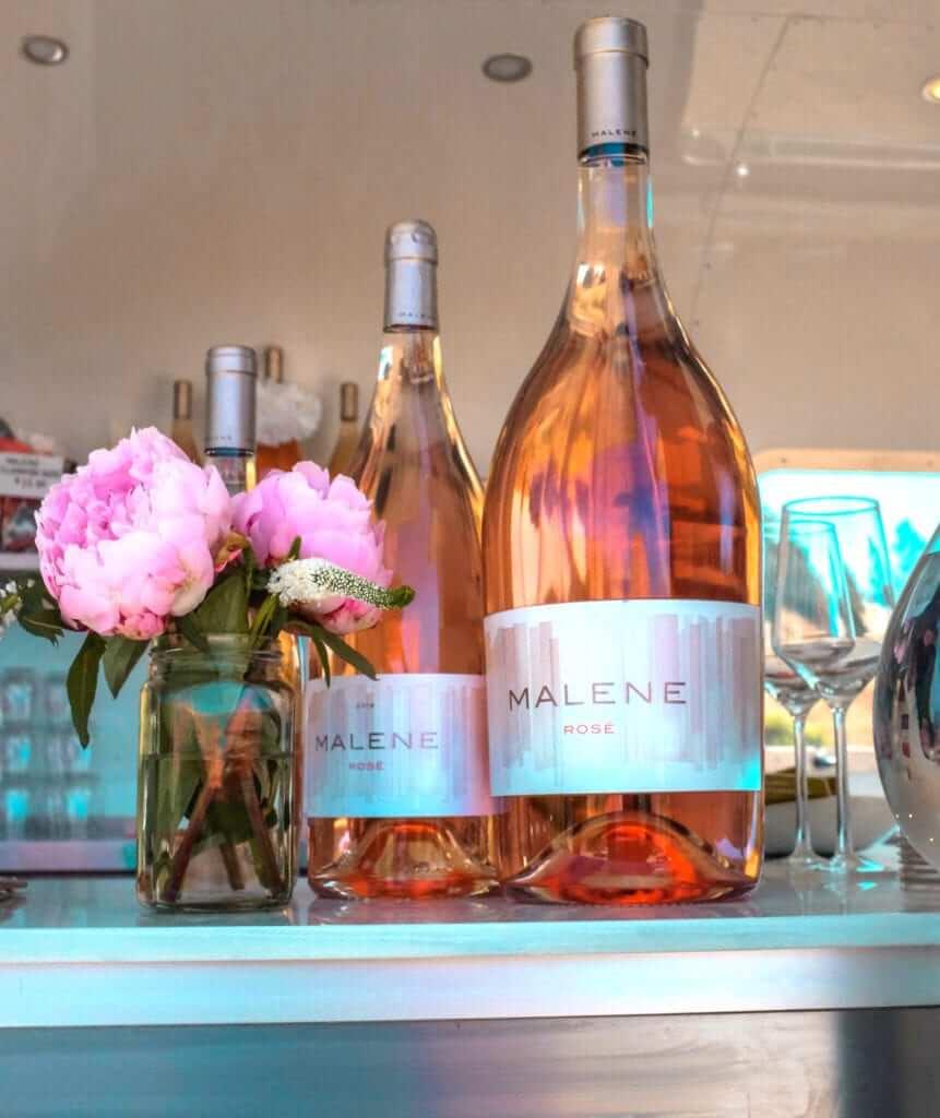 Bottles of Malene Wine in Edna Valley, San Luis Obispo