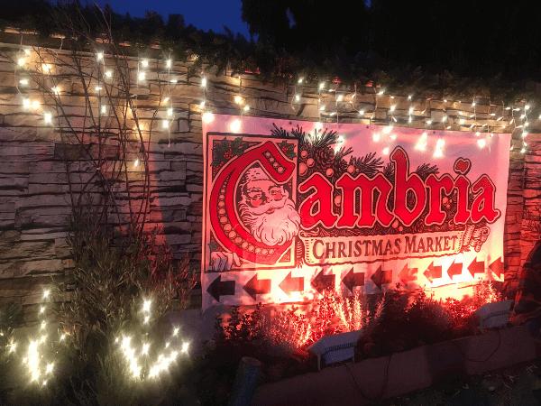 Entrance to Cambria Christmas Market