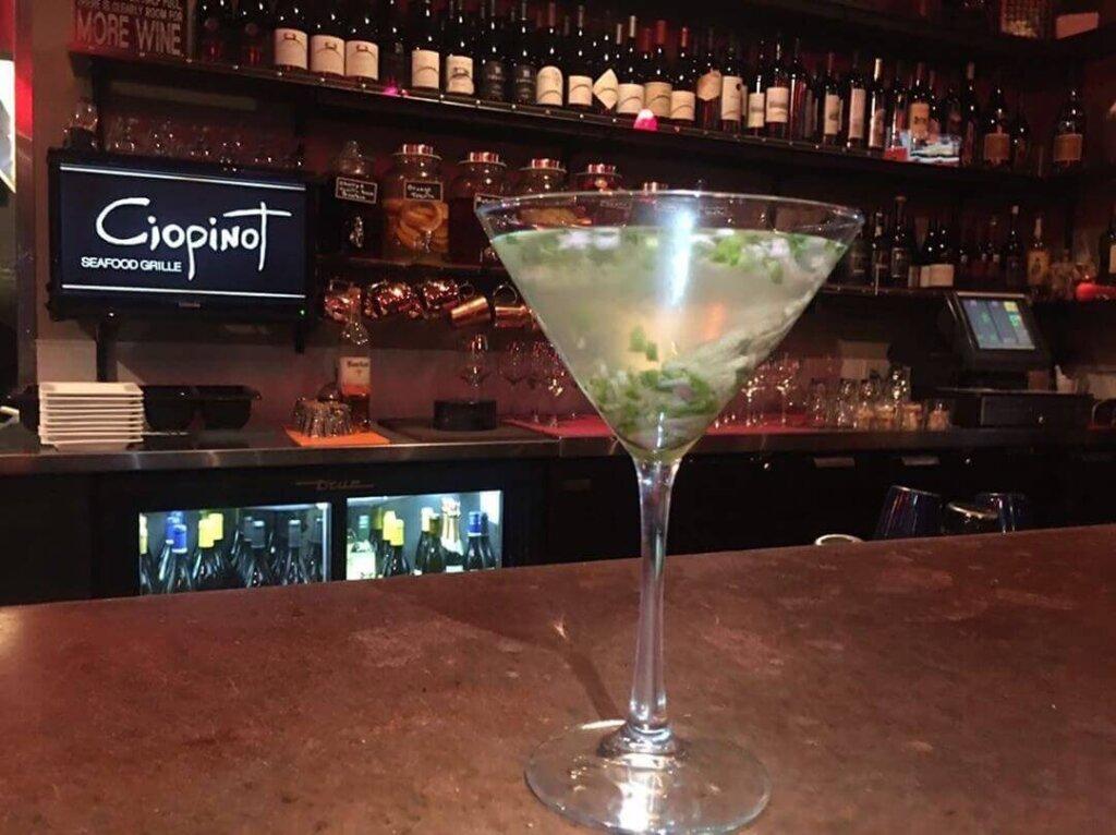 Oyster Martini from Ciopinot in San Luis Obispo
