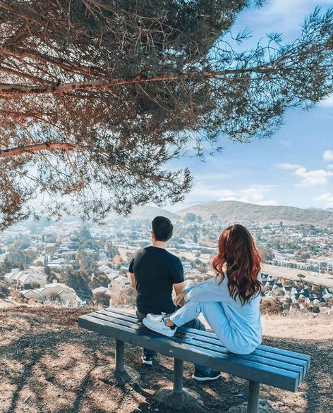 Couple on top of Cerro San Luis.