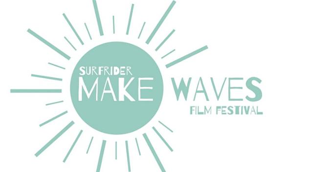 Surfrider's Make Waves Film Festival title graphic