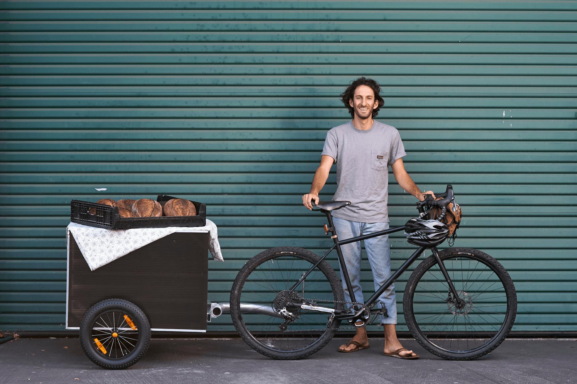 Sam with Bread Bike